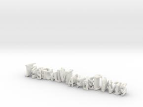 3dWordFlip: JessicaMarieDavis/WonderWoman in White Natural Versatile Plastic