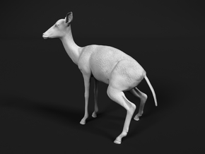 Impala 1:6 Pooping Female in White Natural Versatile Plastic