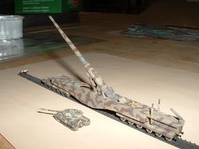 """28cm Railway Gun K5 (E) """"Leopold"""" 1/285 6mm  in Frosted Ultra Detail"""