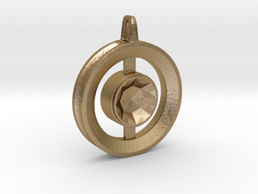 Origin ::: Circle Pendant ::: v.01 in Polished Gold Steel