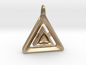 Origin ::: Triangle Pendant ::: v.01 in Polished Gold Steel