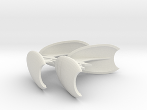 2500 Blank wing set open in White Natural Versatile Plastic