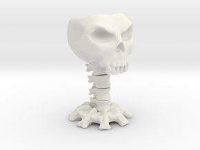 Decorative skull for holding items in White Natural Versatile Plastic