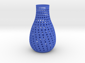 vase  in Blue Processed Versatile Plastic