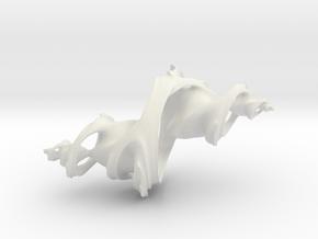 3d Julia set (Large) in White Premium Versatile Plastic