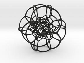 Inverted Truncated Octahedral Lattice in Black Premium Strong & Flexible
