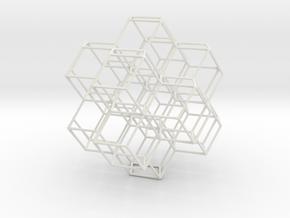 Rhombic Dodecahedral Lattice in White Premium Versatile Plastic