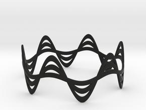 Triple Wave Bracelet (67mm) in Black Premium Versatile Plastic