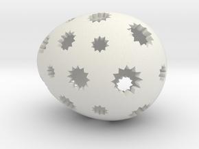 Mosaic Egg #7 in White Premium Versatile Plastic