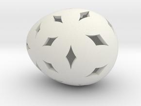 Mosaic Egg #11 in White Premium Versatile Plastic