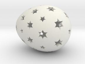 Mosaic Egg #14 in White Premium Versatile Plastic