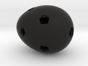 Mosaic Egg #16 in Black Premium Strong & Flexible