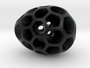 Mosaic Egg #2 in Black Hi-Def Acrylate