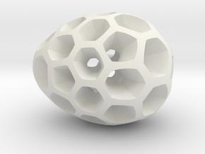 Mosaic Egg #2 in White Premium Versatile Plastic