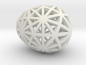 Mosaic Egg #9 in White Premium Versatile Plastic
