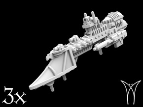 3 Justice class Frigates in Smooth Fine Detail Plastic