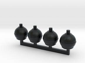Smudge Pots (S) in Black Hi-Def Acrylate