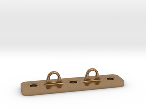 Double Loop Plate in Natural Brass