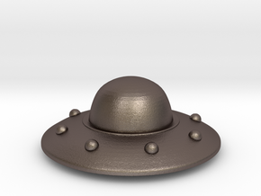 UFO in Polished Bronzed Silver Steel