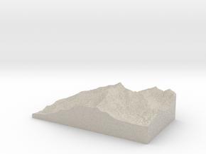 Model of Mount Calowahcan in Natural Sandstone