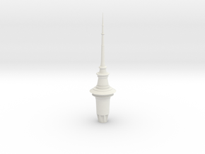 Auckland SkyTower 1:500 Top Section in White Strong & Flexible