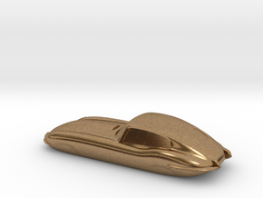 E-type 55mm Keychain in Natural Brass