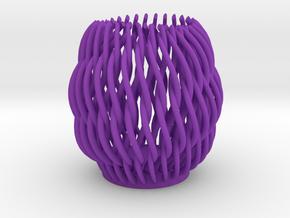 Spectacular Helicoid Mesh Vase - 10 cm in Purple Processed Versatile Plastic