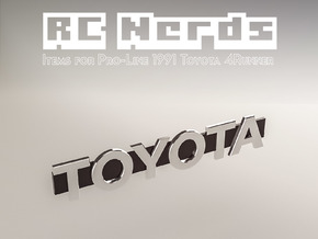 RCN055 Logo for Toyota 4Runner from PL in Smooth Fine Detail Plastic