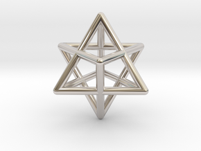 Merkaba pendant - extra small in Platinum