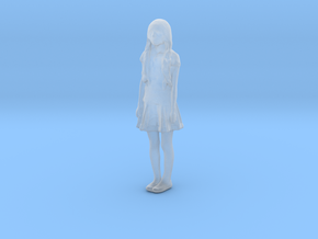 Printle F Wednesday Addams - 1/87 - wob in Smooth Fine Detail Plastic