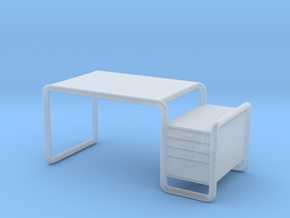 Miniature Thonet S 285/1 Table - Marcel Breuer in Smooth Fine Detail Plastic: 1:24