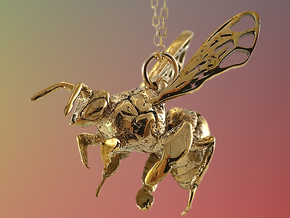 Western Honey Bee Pendant in 18k Gold Plated