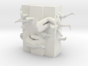 "M-06: ""Placetown"" by IIIII Columns in White Natural Versatile Plastic"