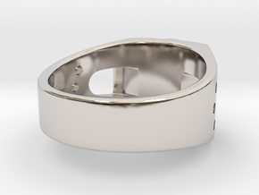 Bitcoin Ring in Rhodium Plated Brass: 7 / 54