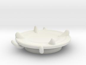 Imp's saucer (set 2 of 2) in White Natural Versatile Plastic
