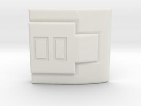 Vault Suit - Square Clip in White Natural Versatile Plastic