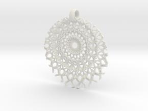SpFr Medallion in White Natural Versatile Plastic