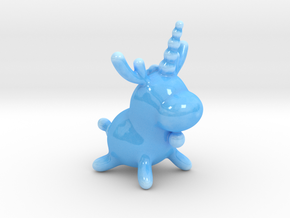 ReinBalloonicorn (porcelain) in Gloss Blue Porcelain