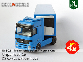"SET 4x Trailer refrigerator ""Thermo King"" (N 1:160 in Smoothest Fine Detail Plastic"