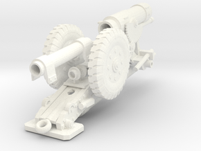28mm Heavy Cannon  in White Processed Versatile Plastic