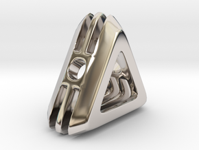 Embrace ::: Triangle Pendant ::: v.01 in Rhodium Plated Brass