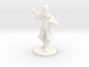 D&D Mini - Zendrin The Sorcerer/Wizard in White Processed Versatile Plastic
