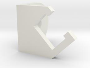 LED Light Holder for Vention.io Aluminum Extrusion in White Natural Versatile Plastic