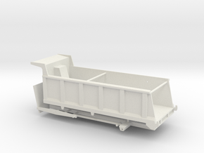 1/50th Large 20' Dump Truck Body, 25/27 yard in White Natural Versatile Plastic