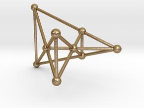 Desargues's Golden Configuration (male) in Polished Gold Steel