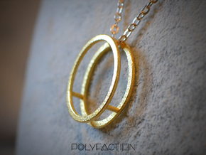 Wire ::: Circle Pendant ::: v.01 in Polished Gold Steel