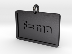 Newton's 2nd Law Pendant in Polished and Bronzed Black Steel