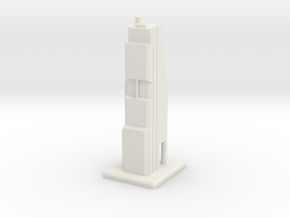 Modern Skyscraper in White Natural Versatile Plastic