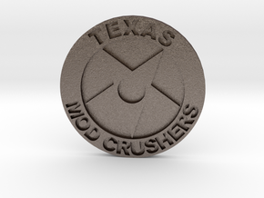 TMC Badge 1.5 Inch in Polished Bronzed Silver Steel