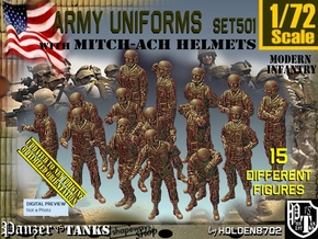 1/72 Mod Unif MICH Set501 in Smooth Fine Detail Plastic
